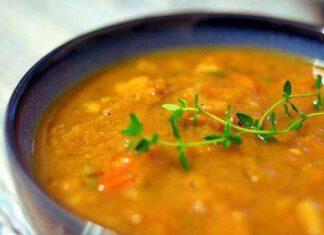 Χορτόσουπα-με-ταχίνι-νηστίσιμη